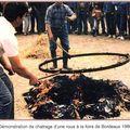 Cercle chaud posé à l'aide de griffes