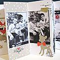 Cadeau de noël : mini album pour ma mère et mes beaux-parents