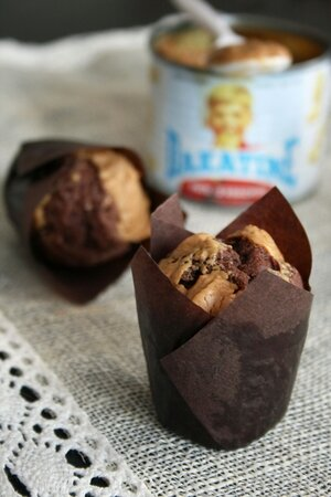 Muffins chocolat noix de pecan et beurre de cacahuettes 3