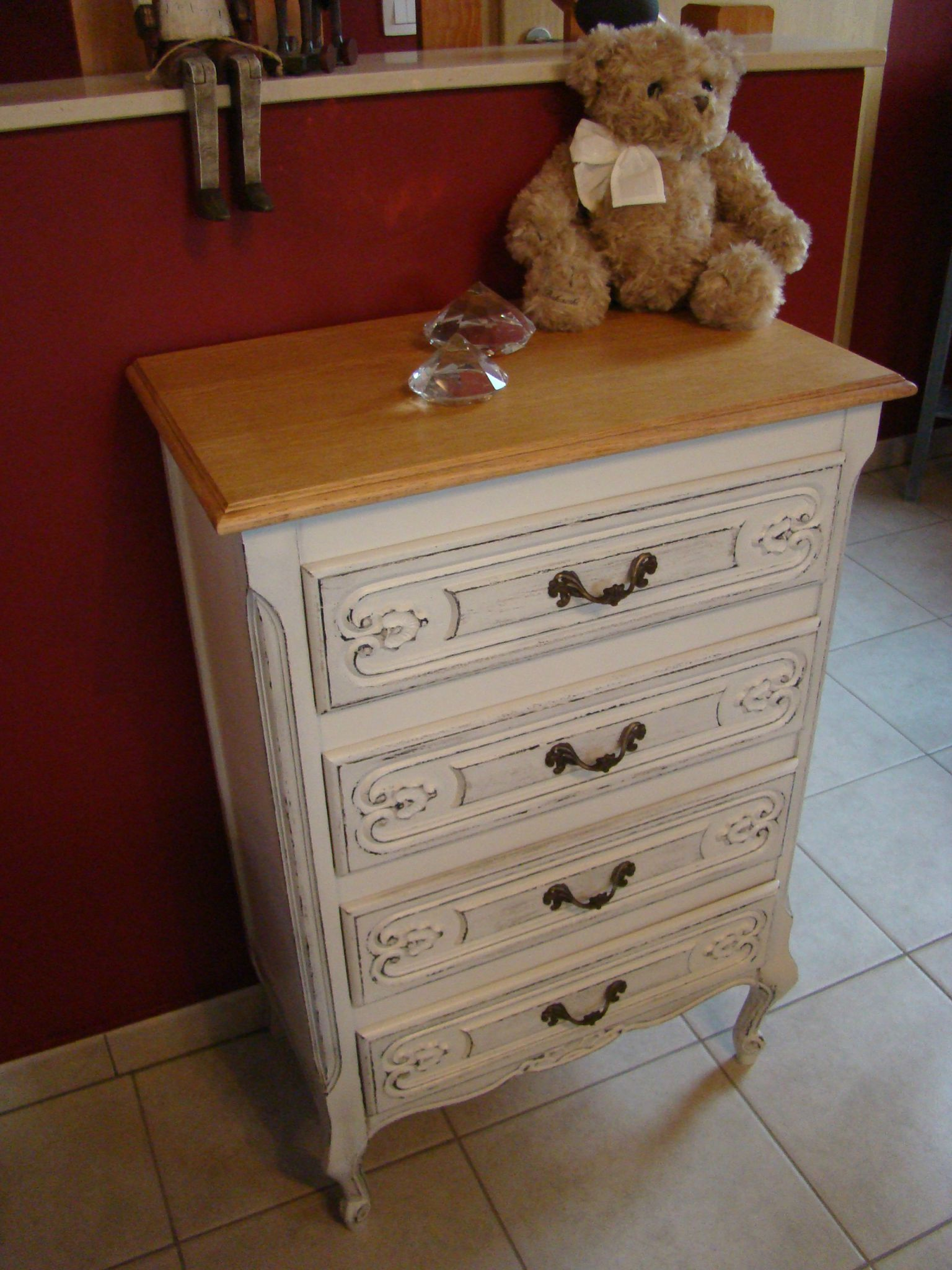 commode effet shabby chic relooking meubles int rieur. Black Bedroom Furniture Sets. Home Design Ideas