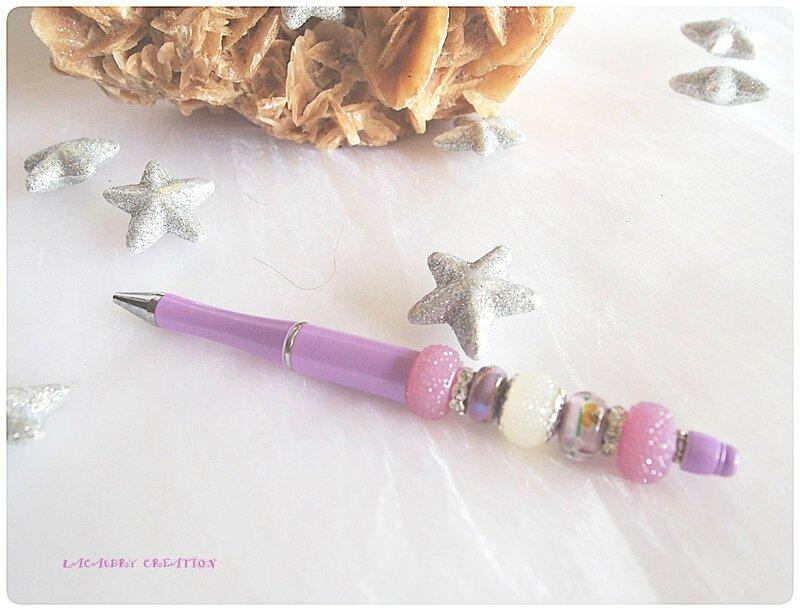 stylo lilas clair et argent lacaudry creation2