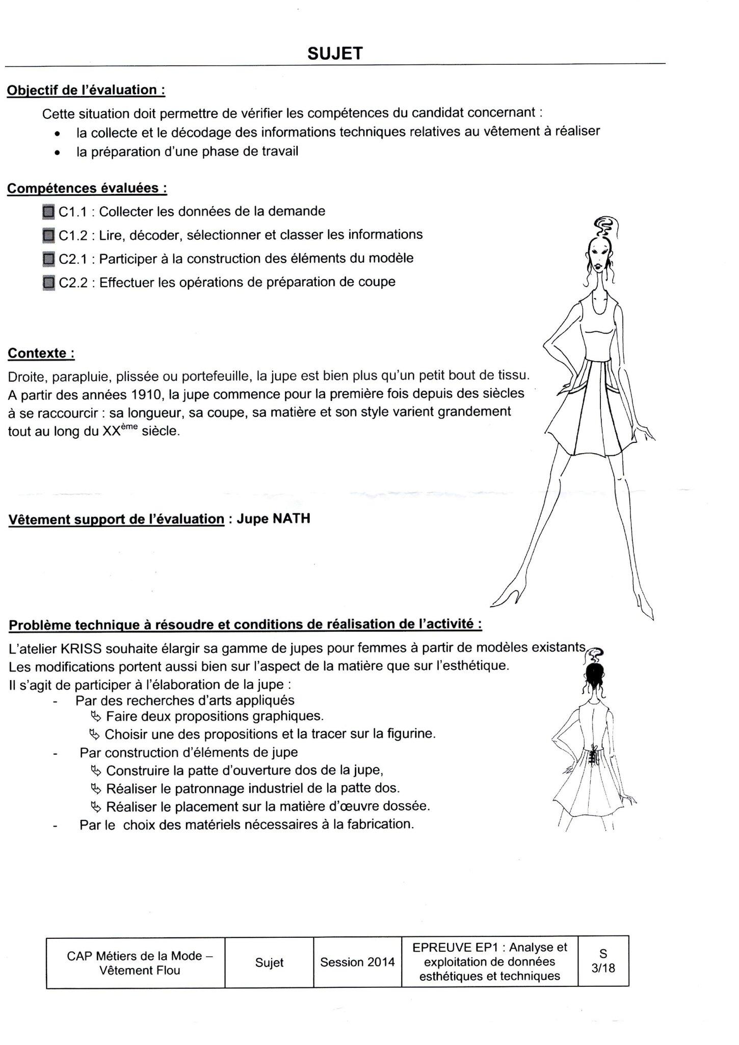 Exemple de rapport de stage de cap couture - Sujet examen cap cuisine ...