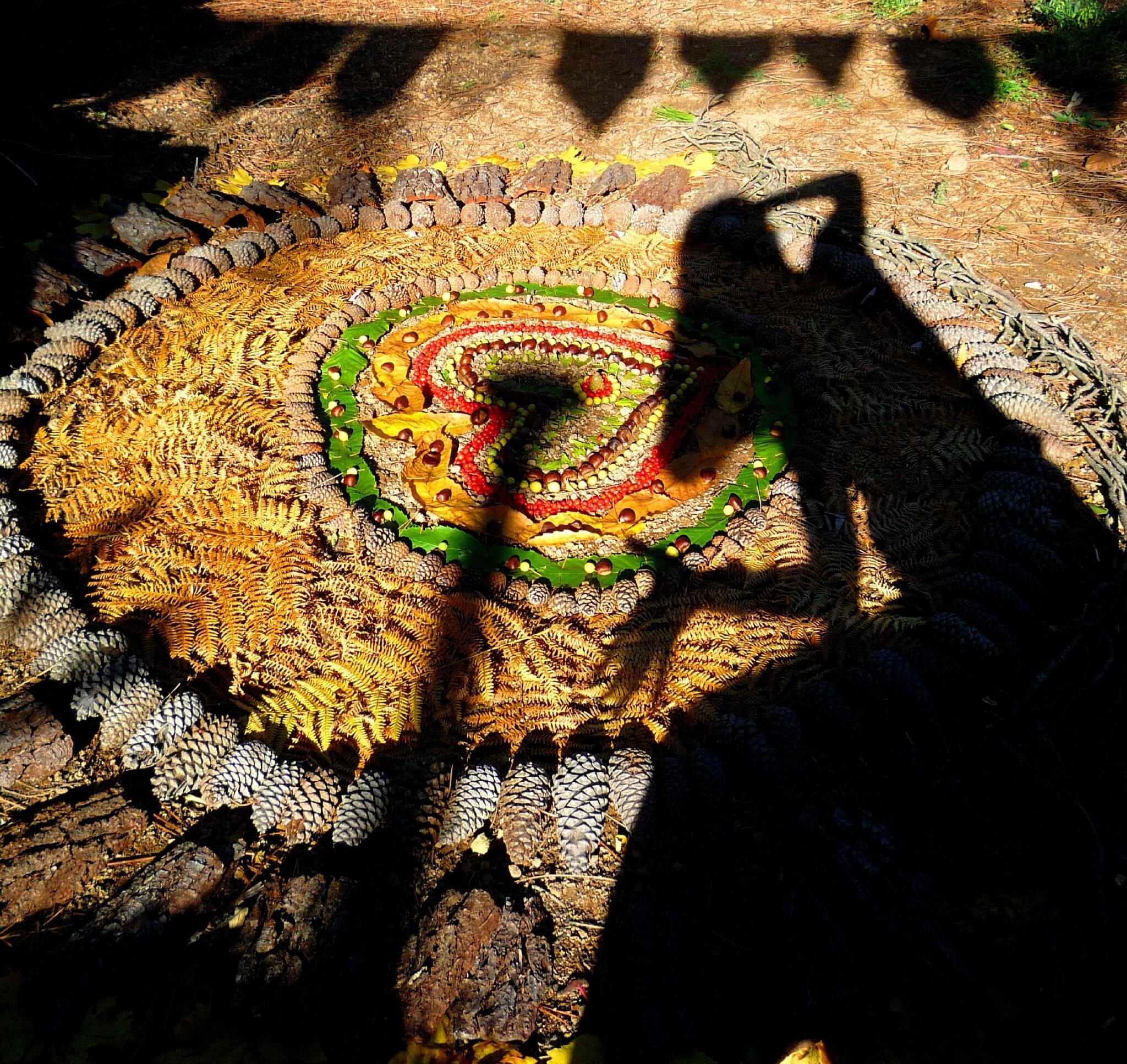 ombre sur mandala land art yurtao
