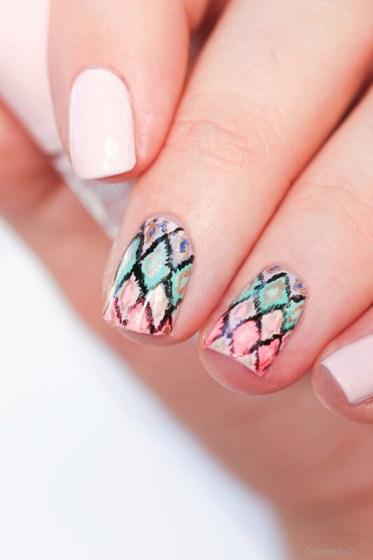 nail art ikat inspiration victoria's secret-3