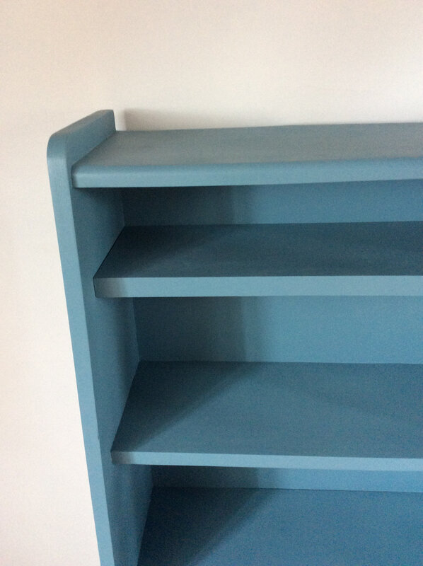 Meuble biblioth que ann e 60 bleu atelier darblay le for Prix peinture farrow and ball