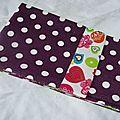 29. pochette I-phone toile enduite violette - imprimé coloré
