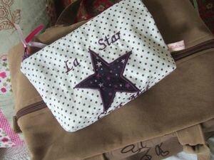 Pochette zippée Star