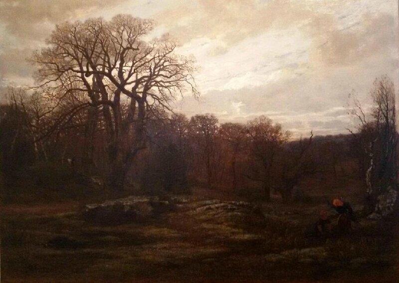 La Gorge aux loups forêt de Fontainebleau hiver 1857 Saint Marcel