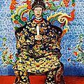Vua khải định - sa majesté khai dinh, empereur d'annam - 1919 the emperor of annam, vietnam