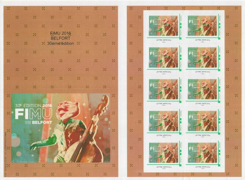 Planche timbres FIMU 2016