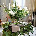 Un bouquet offert pour un diner...