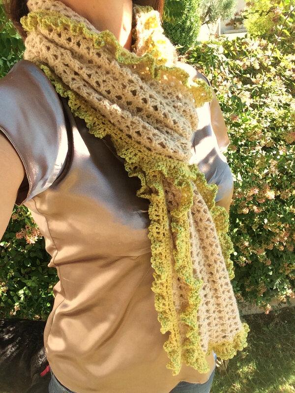 Echarpe volantée-laine-crochet-La chouette bricole (3)