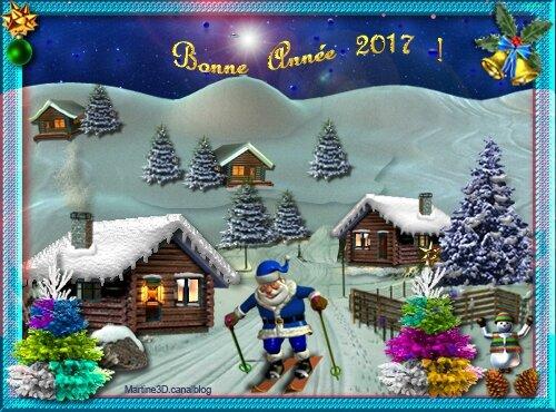022-carte-bonne-annee-2017-Pere-Noel-ski-sapins-chalets-montagne
