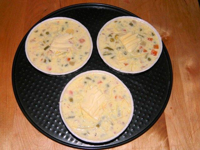 Quiche macédoine lardons (avant cuisson)