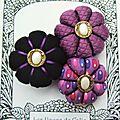 ♥ ylana ♥ broche textile hippie chic fleurs potirons - les yoyos de calie