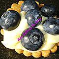 Tartelette aux myrtylles