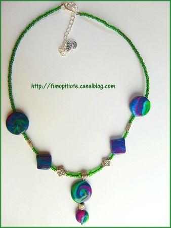 Bijoux pate fimo collier bracelet boucles d oreilles (29)
