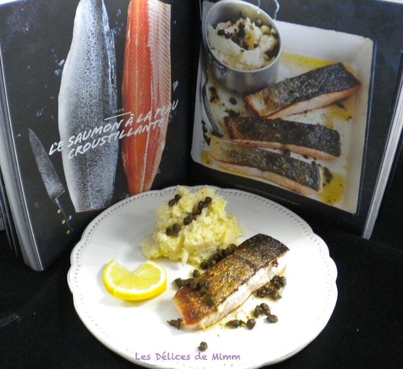 Saumon croustillant, purée de panais et sauce beurre et câpres de Donna Hay