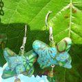 bo papillon vole turquoise