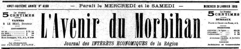 Presse L'avenir du Morbihan 1906_1