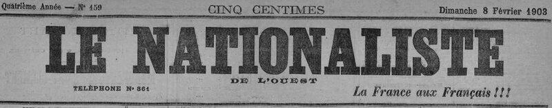 1903 le 8 février Nationaliste de l'Ouest_1