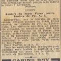Dimanche 6 novembre 1938