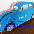 Urne voiture coccinelle 1958 2 Créa Gil