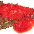 Moelleux au chocolat et son coulis de fraises