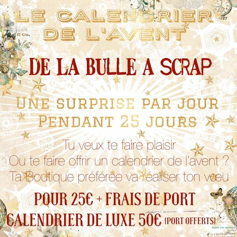 calendrier de l 39 avent by la bulle a scrap la bulle a scrap design team. Black Bedroom Furniture Sets. Home Design Ideas