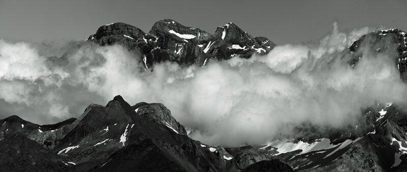 Monte perdido depuis le pic de Bacias