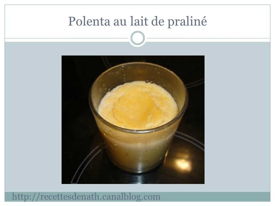 polenta sucr 233 e au lait de pralin 233 les recettes de nath
