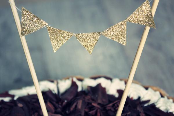 cake topper diy glitter