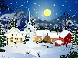 paysage-de-noel du site dessin de Noël