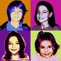 Portrait pop'art quatro, nuanciers BEDA