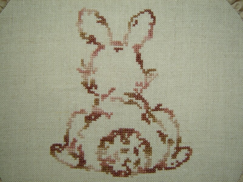 lapin broderie