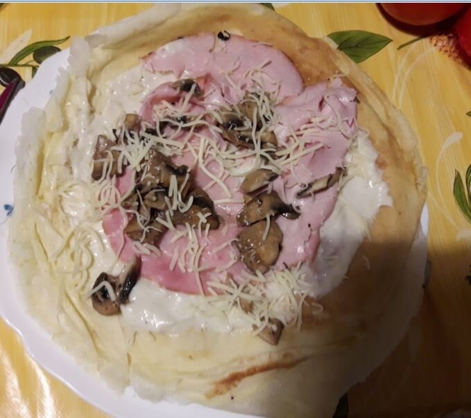 crepes jambon champignons gruyère