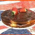 Cheesecake aux fraises et chocolat praliné