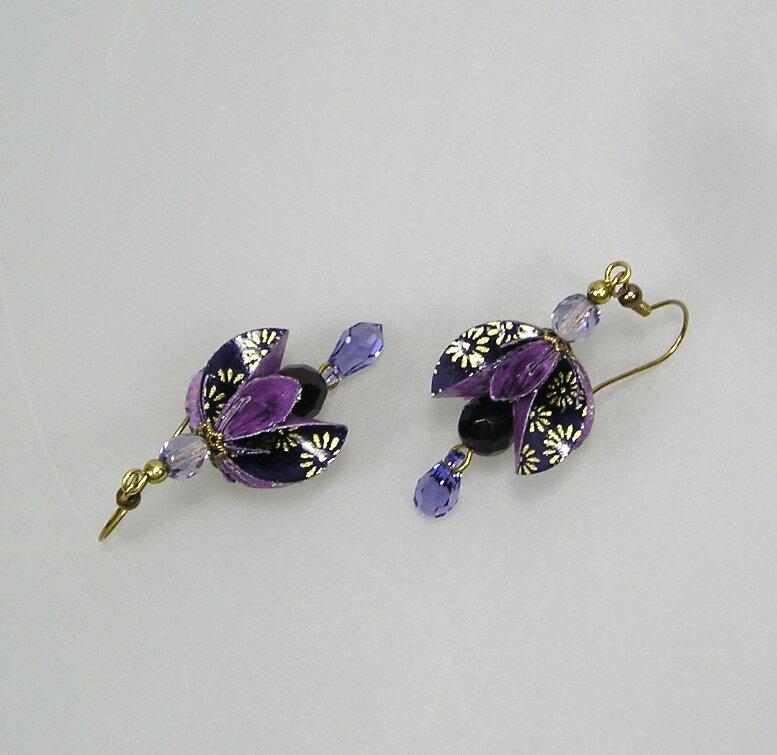 BO Dahlia violet doré V3