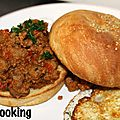 Sloppy joe {pain burgers maison}