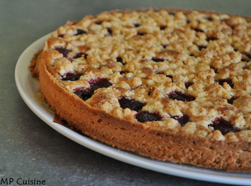 tarte aux framboises fa on crumble mp cuisine. Black Bedroom Furniture Sets. Home Design Ideas