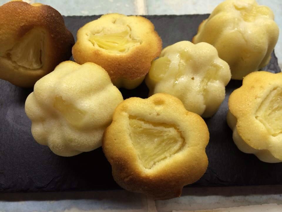 Petits gâteaux tendres à l'ananas