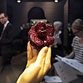 Camellia flower brooch