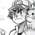 Comment dessiner pokemon avec sacha et pikachu