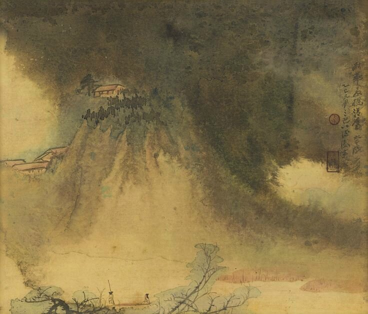 Zhang Daqian (Chang Dai-chien, 1899-1983), Sailing by misty mountains, 1965