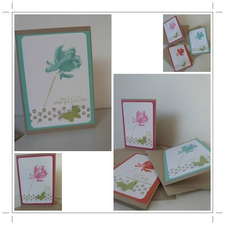 carte facile stampin up