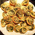 Mini quiches apéritives saumon épinard
