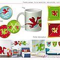 Stickers : thème chevalier dragon