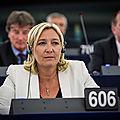 Marine le pen contre le tafta au parlement européen le 07/07/2015