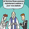 Nouvelle formule de mariage, et maintenant vous pouvez ...