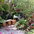 23a Scène autour d'un banc à l'ombre de l'olivier